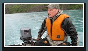 Brent running Zodiac in Alaska_cropped